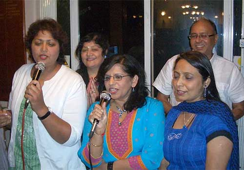 Hindu Society ladies enjoying Karaoke singing at Golf Course, Southampton