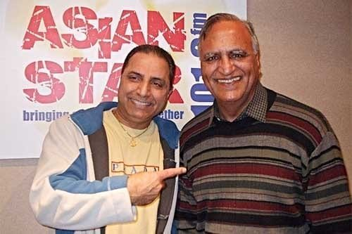 Paramjit Pammi Asian Star Radio Presenter & Rahi Bains.