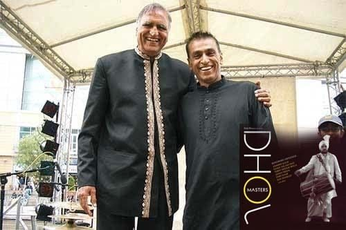 Rahi Bains with Kuljit Bhamra at Dhoom Dhamaka festival, Reading